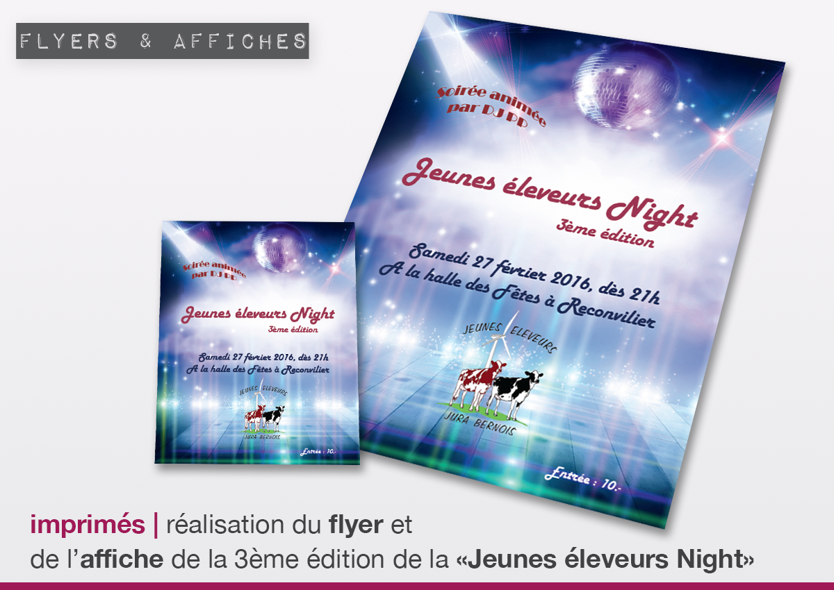 news flyer et affiche
