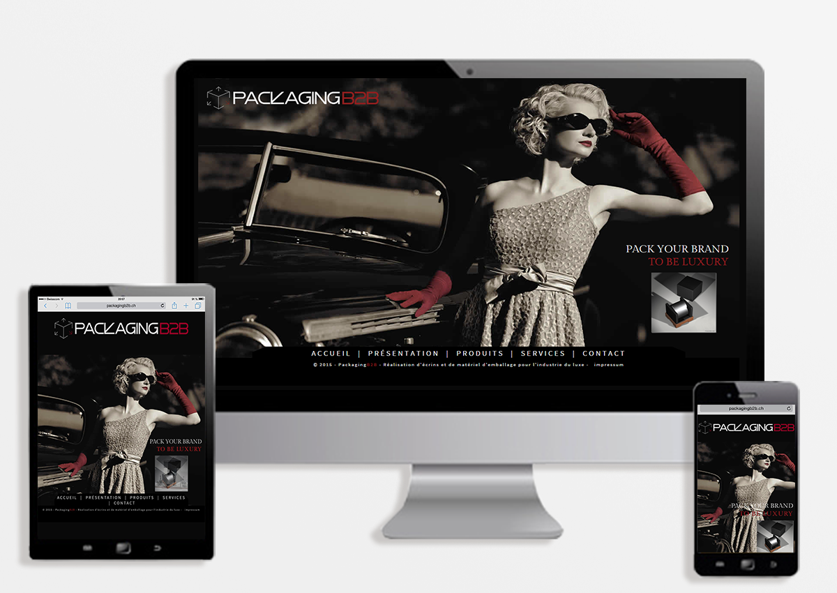 réalisation site web responsive design packagingb2b
